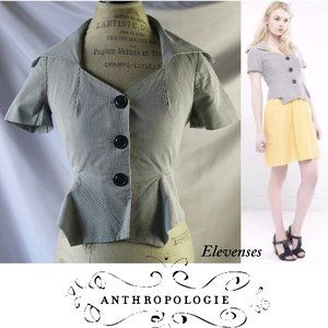 Anthropologie Elevenses Skittering Peplum Jacket